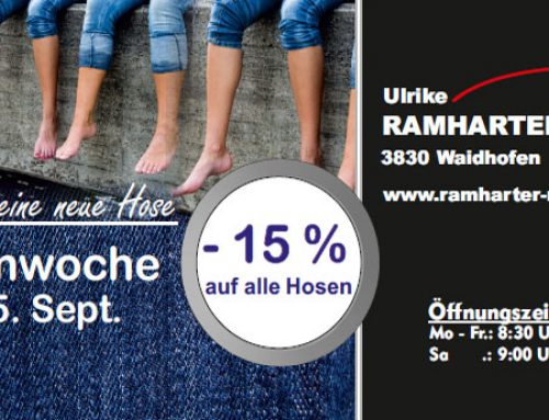 Hosenwoche bei Ramharter Mode!